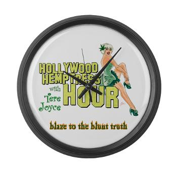 hollywood_hemptress_logo_large_wall_clock