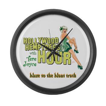 hollywood_hemptress_logo_large_wall_clock